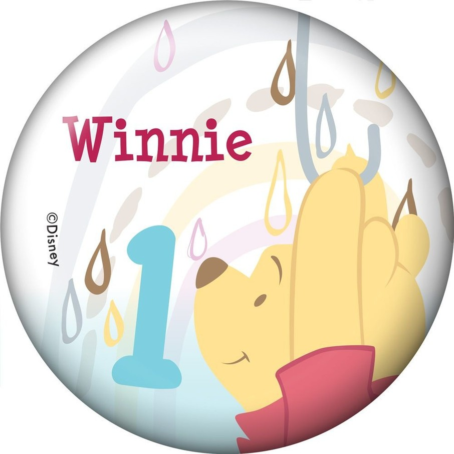 View larger image of Pooh Personalized Button (Each)
