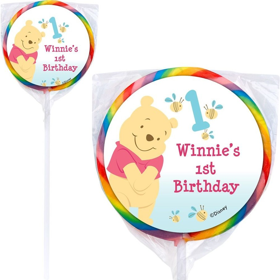 View larger image of Pooh Personalized Lollipops (12 Pack)