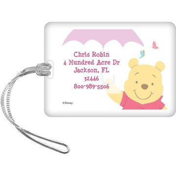 Pooh Personalized Luggage Tag (Each)