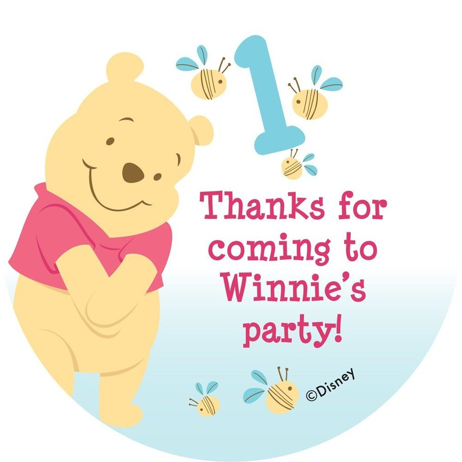 View larger image of Pooh Personalized Stickers (Sheet Of 12)