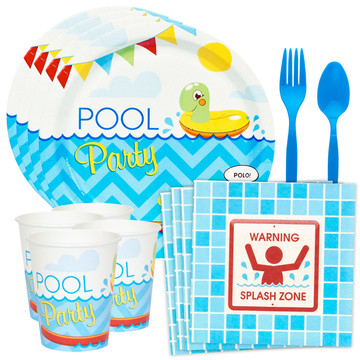 Pool Party Standard Tableware Kit (Serves 8)