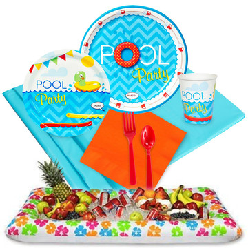 Pool Party Tableware Cooler Kit