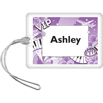 Pop Star Personalized Bag Tag (each)
