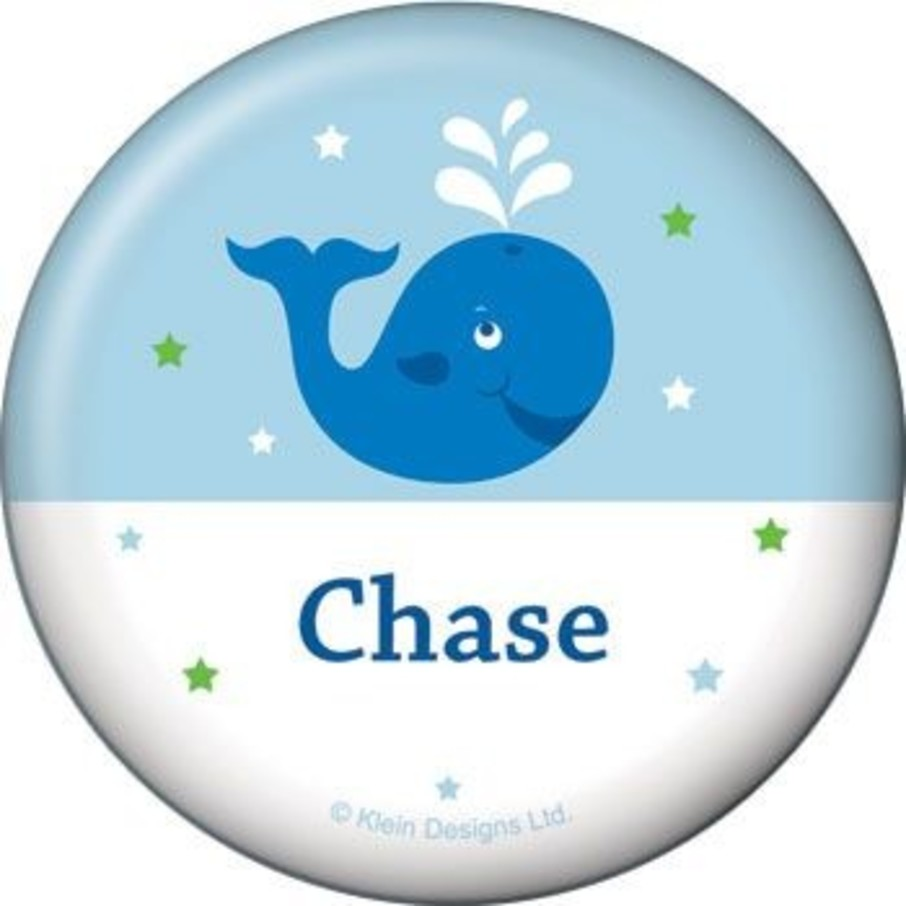 View larger image of Preppy Blue Ocean Party Personalized Button (each)