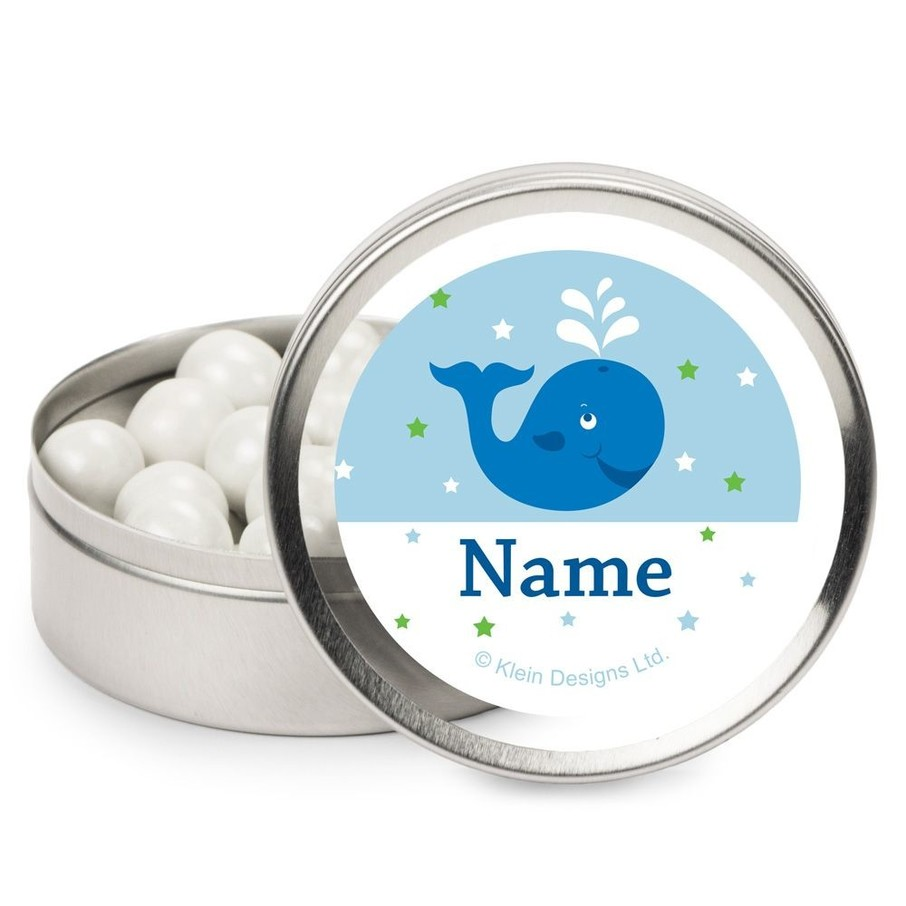 View larger image of Preppy Blue Ocean Party Personalized Candy Tins (12 Pack)