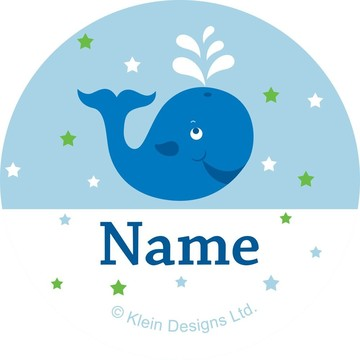 Preppy Blue Ocean Party Personalized Mini Stickers (Sheet of 24)