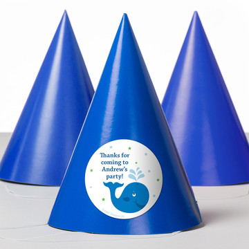 Preppy Blue Ocean Party Personalized Party Hats (8 Count)