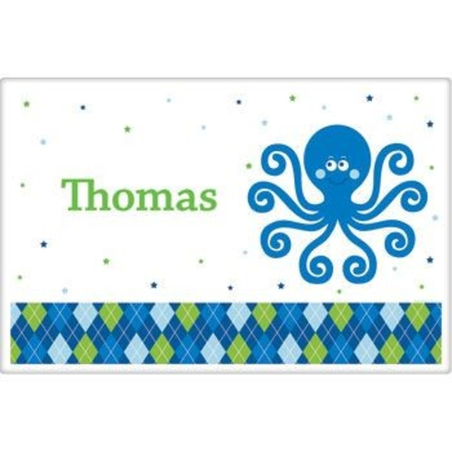 View larger image of Preppy Blue Ocean Party Personalized Placemat (each)