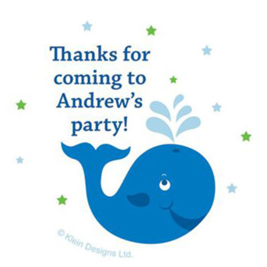 View larger image of Preppy Blue Ocean Party Personalized Stickers (sheet of 12)