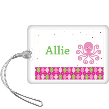 Preppy Pink Party Personalized Bag Tag (each)