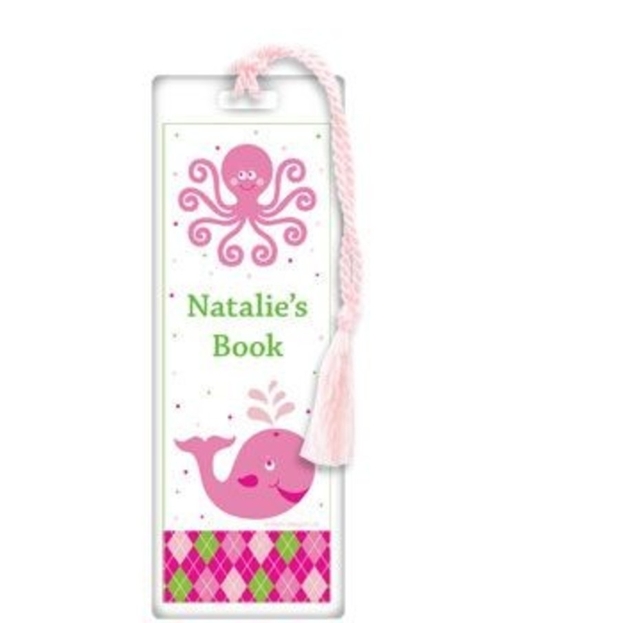 View larger image of Preppy Pink Party Personalized Bookmark (each)
