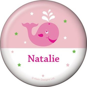 Preppy Pink Party Personalized Button (each)
