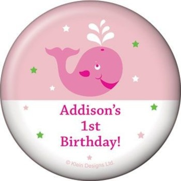 Preppy Pink Party Personalized Magnet (each)