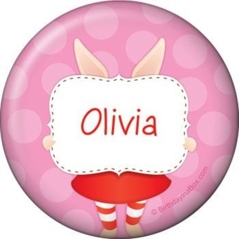 View larger image of Pretty Pig Personalized Button (each)