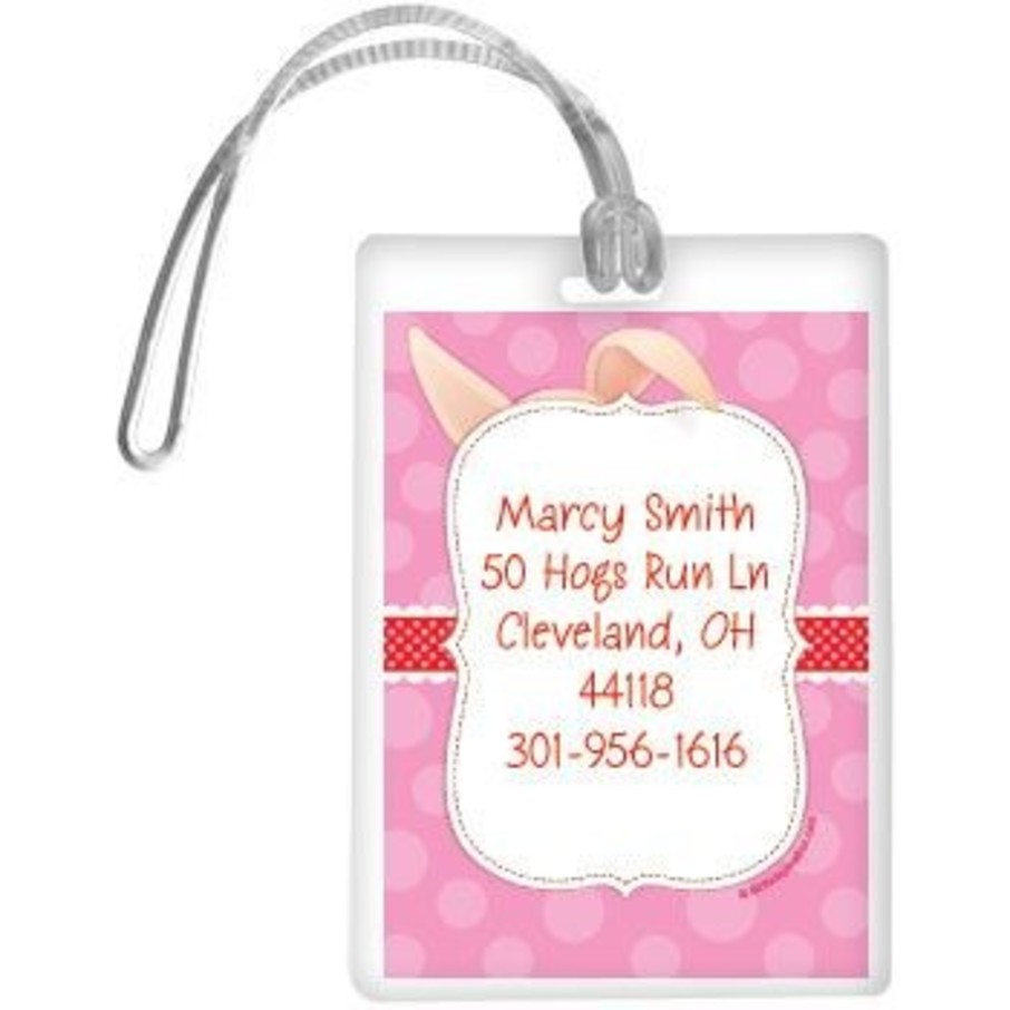 View larger image of Pretty Pig Personalized Luggage Tag (each)
