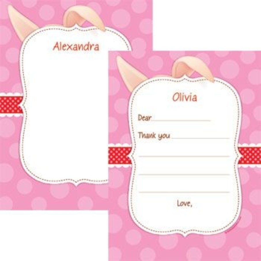 View larger image of Pretty Pig Personalized Thank You Note (each)
