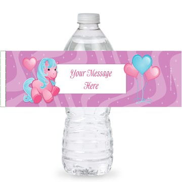 Pretty Pony Personalized Bottle Labels (Sheet of 4)