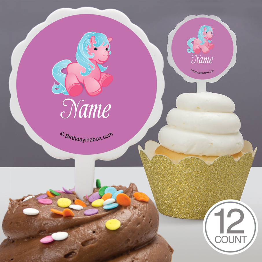 View larger image of Pretty Pony Personalized Cupcake Picks (12 Count)