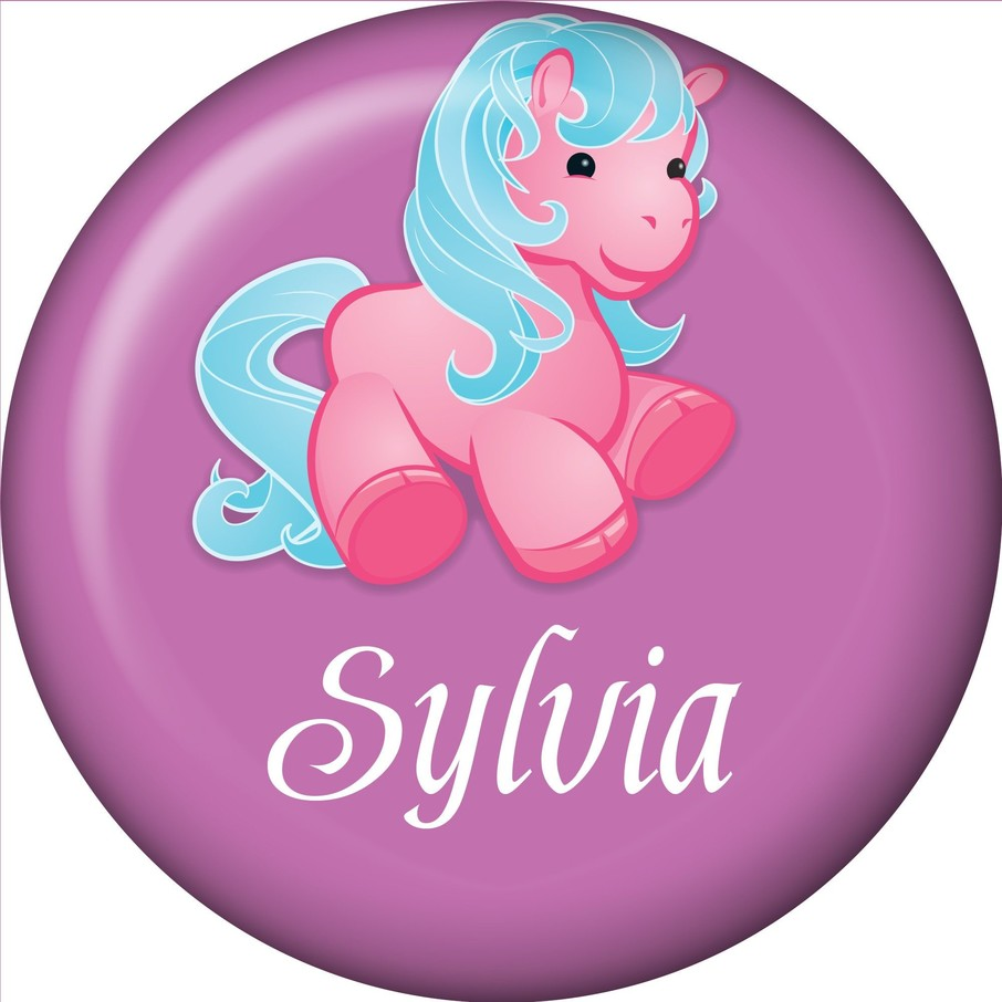 View larger image of Pretty Pony Personalized Mini Button (each)