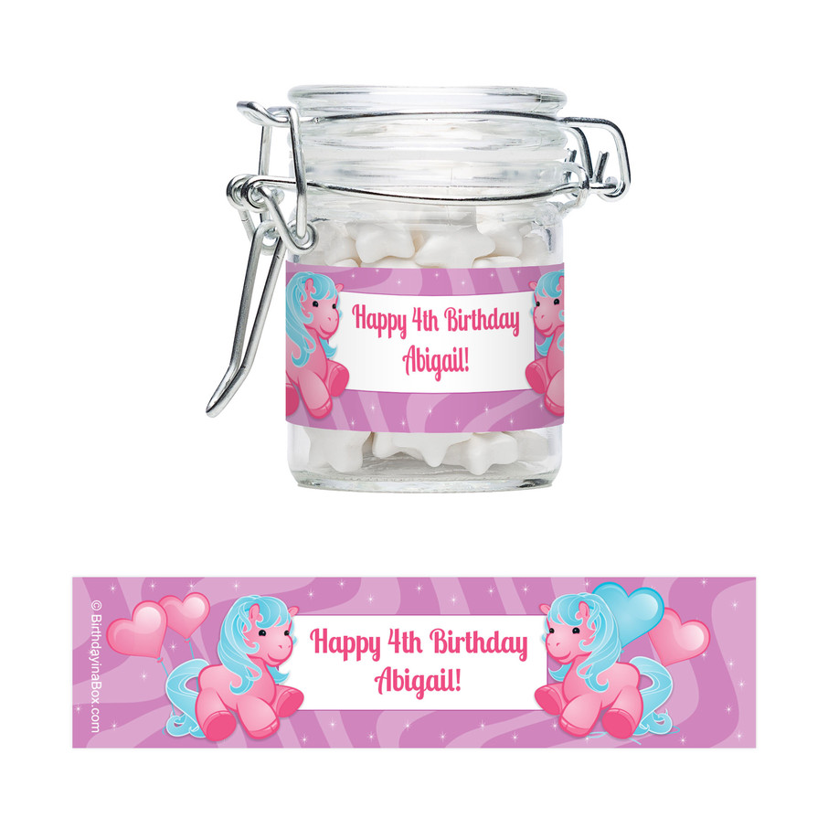 View larger image of Pretty Pony Personalized Swing Top Apothecary Jars (12 ct)
