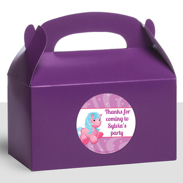 Pretty Pony Personalized Treat Favor Boxes (12 Count)