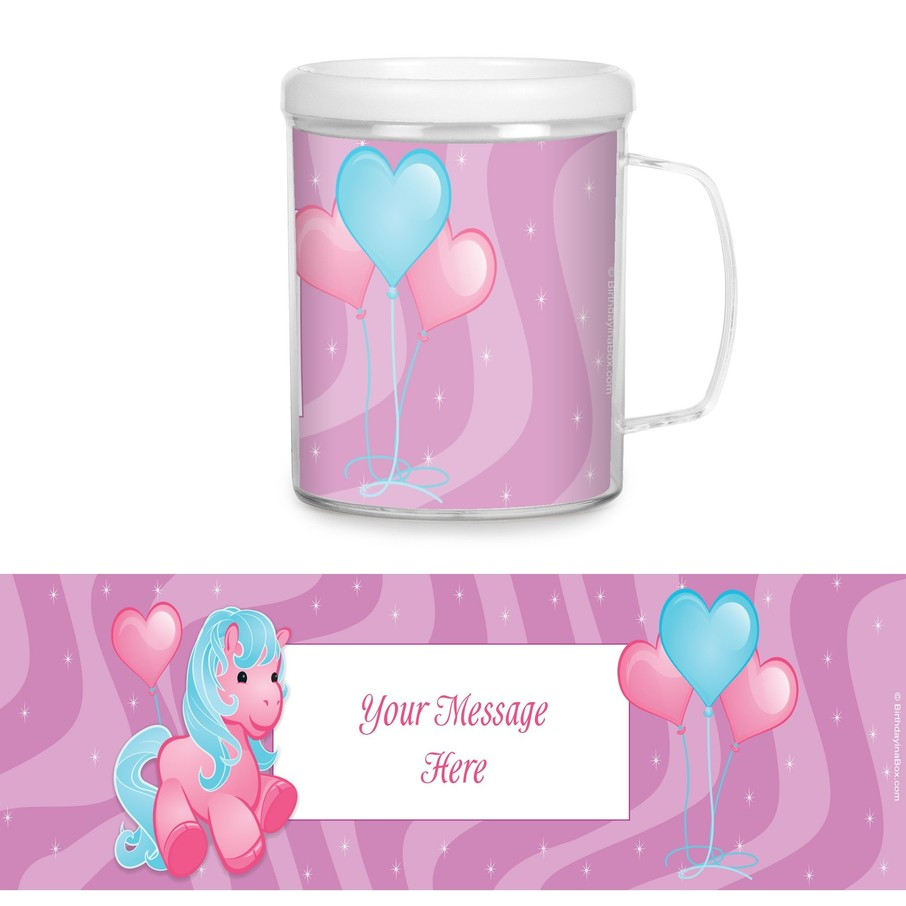 View larger image of Pretty Pony Plastic Personalized Favor Mugs (Each)