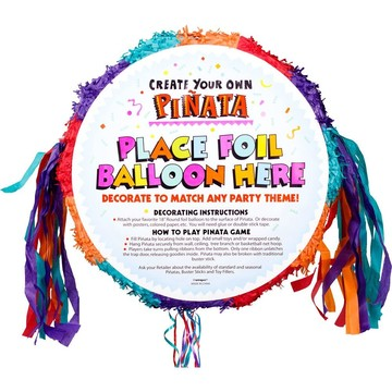 Primary Pull-String Blank Pinata (Each)