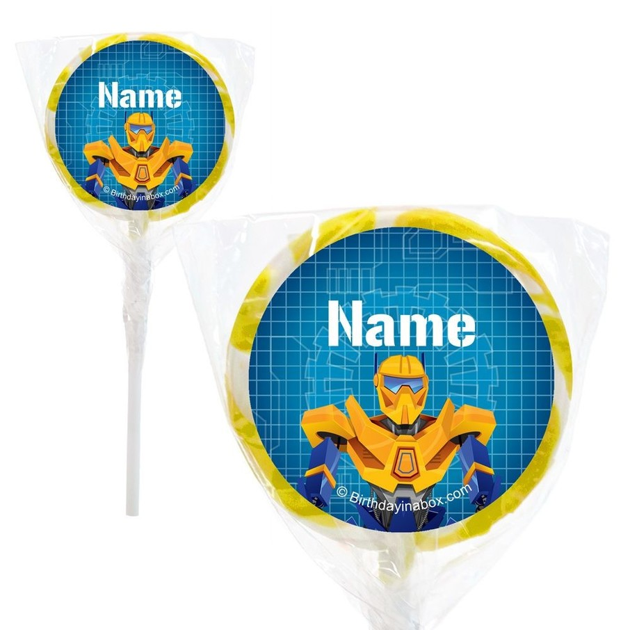 """View larger image of Prime Robot Personalized 2"""" Lollipops (20 Pack)"""