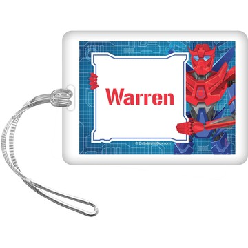 Prime Robot Personalized Bag Tag (each)