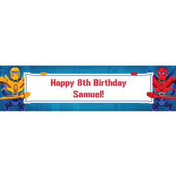 Prime Robot Personalized Banner (each)
