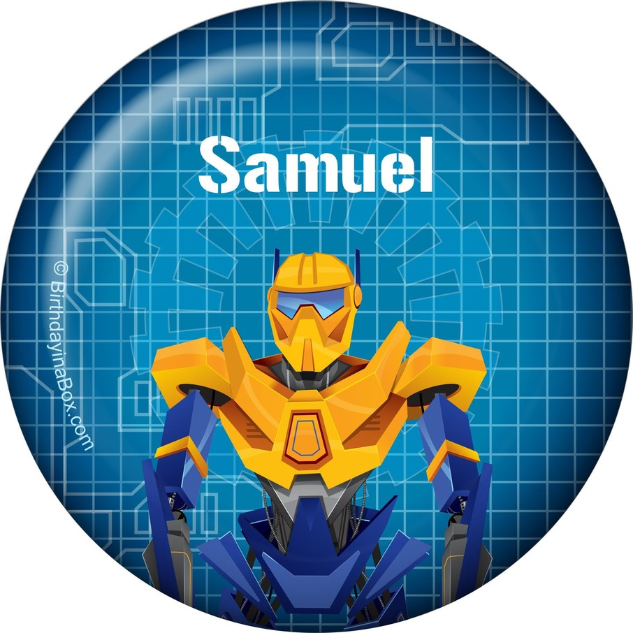 View larger image of Prime Robot Personalized Button (each)