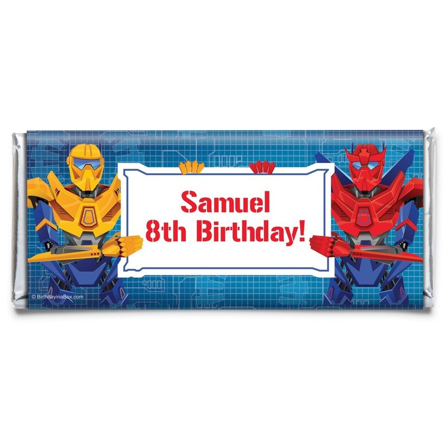 View larger image of Prime Robot Personalized Candy Bar Wrapper (Each)