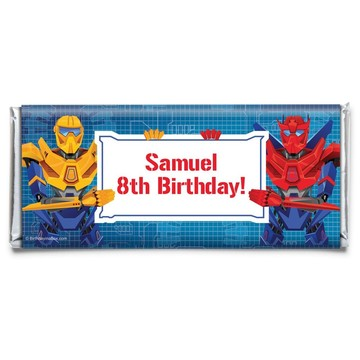 Prime Robot Personalized Candy Bar Wrapper (Each)
