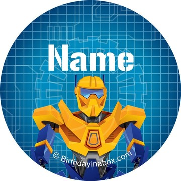 Prime Robot Personalized Mini Stickers (Sheet of 24)