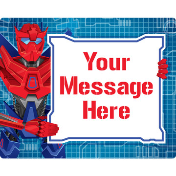 Prime Robot Personalized Rectangular Stickers (Sheet of 15)