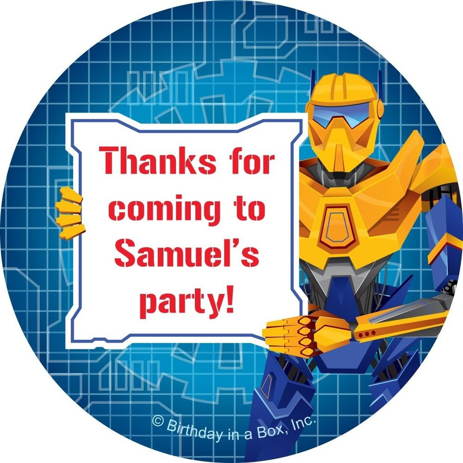 View larger image of Prime Robot Personalized Sticker