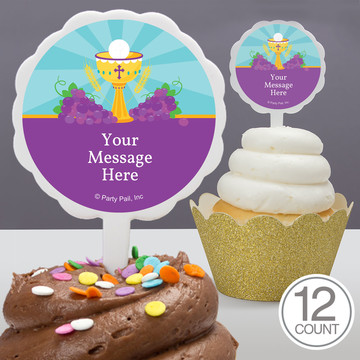 Primera Communion Personalized Cupcake Picks (12 Count)