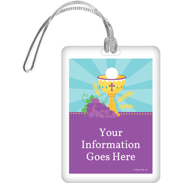 Primera Communion Personalized Luggage Tag (Each)
