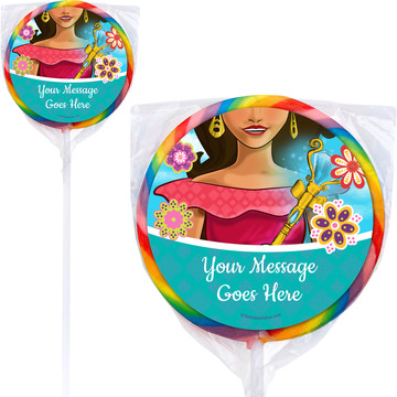 Princesa Personalized Lollipops (12 Pack)