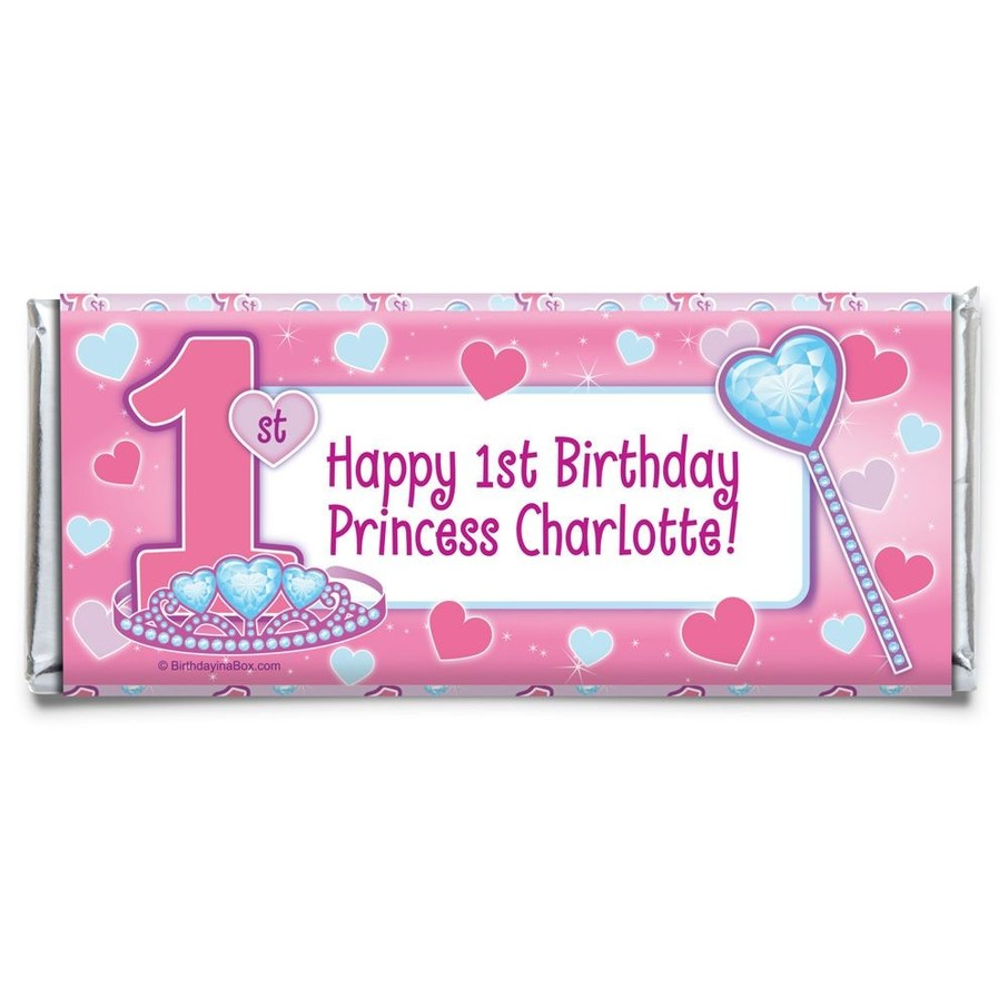 View larger image of Princess 1st Birthday Personalized Candy Bar Wrapper (Each)