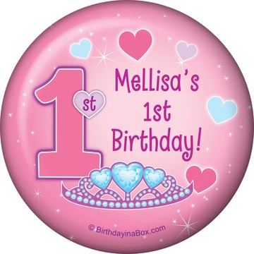 Princess 1st Birthday Personalized Magnet (each)