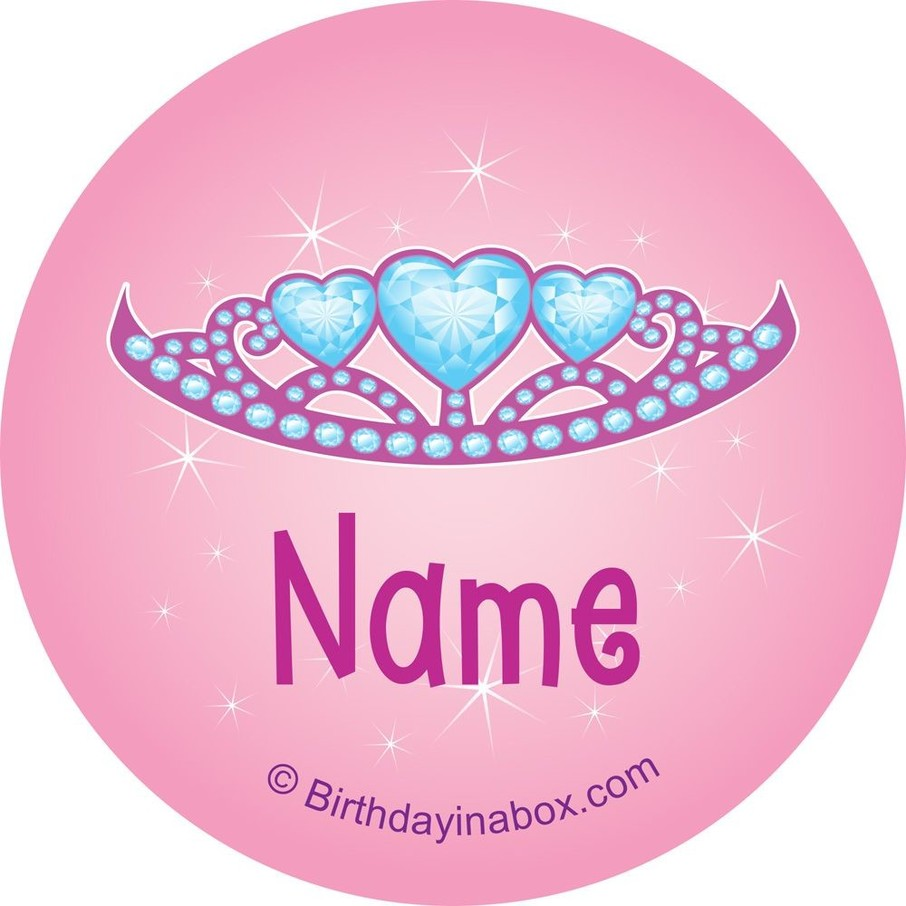 View larger image of Princess 1st Birthday Personalized Mini Stickers (Sheet of 24)