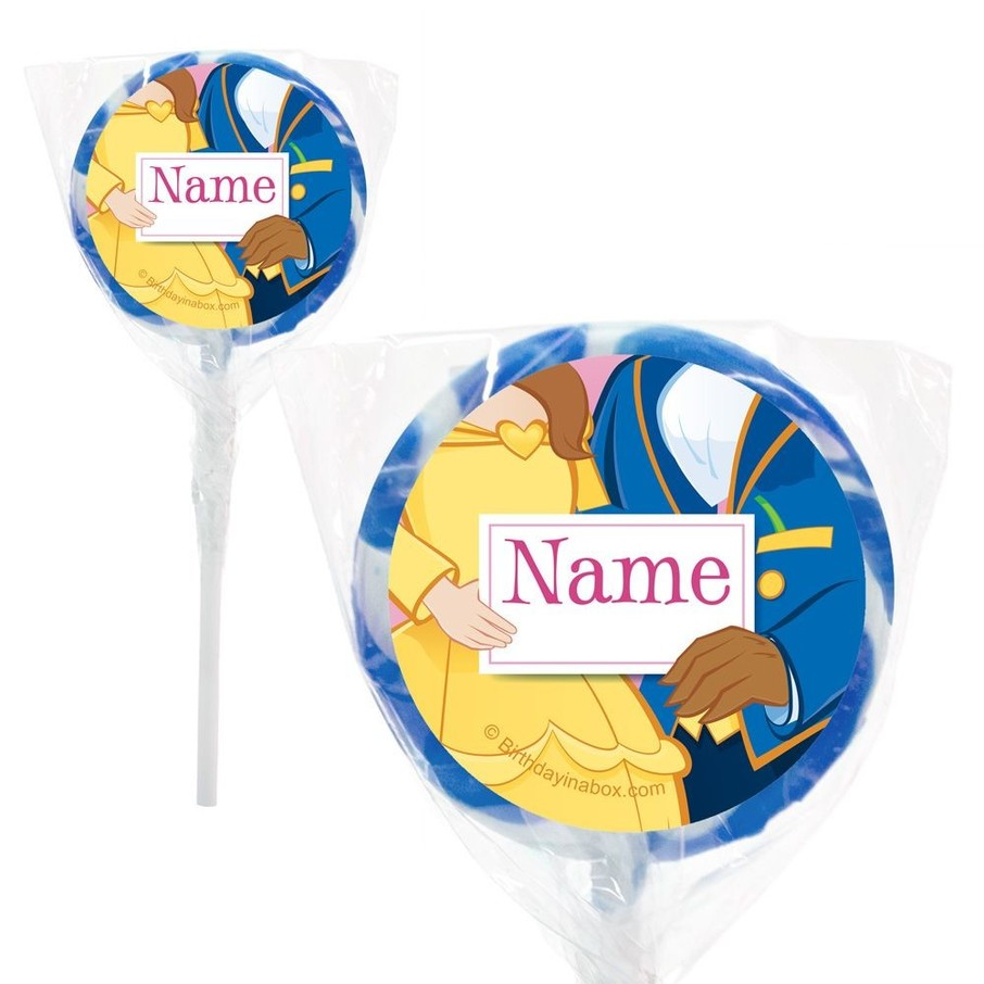 "View larger image of Princess and Beast Personalized 2"" Lollipops (20 Pack)"