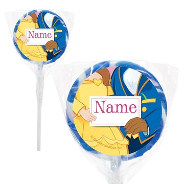 "Princess and Beast Personalized 2"" Lollipops (20 Pack)"