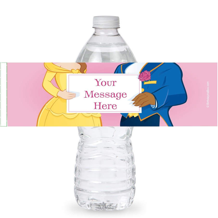 View larger image of Princess and Beast Personalized Bottle Labels (Sheet of 4)