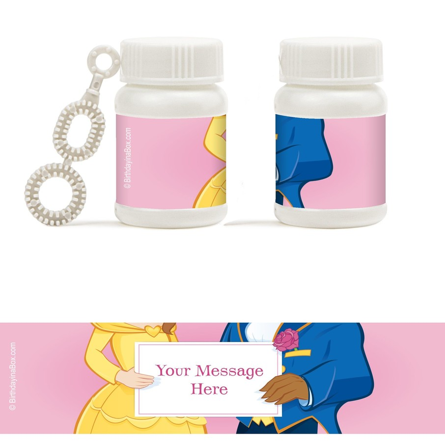 View larger image of Princess and Beast Personalized Bubbles (18 Pack)