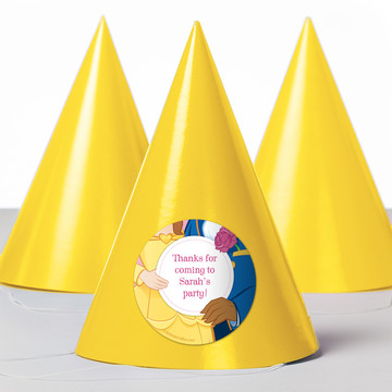 Princess And Beast Personalized Party Hats (8 Count)