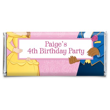 Princess & Beast Personalized Candy Bar Wrapper (each)