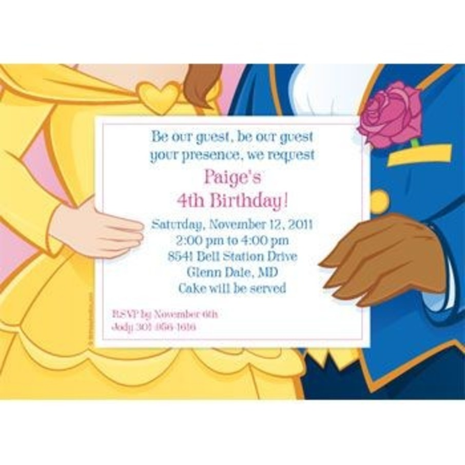 View larger image of Princess & Beast Personalized Invitation (each)