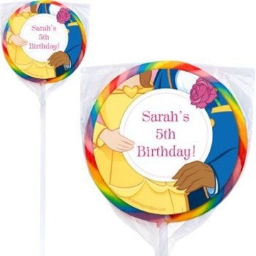 Princess & Beast Personalized Lollipops (pack of 12)